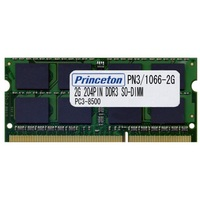 PRINCETON 2GBX2 PC3-8500 DDR3 204pin SDRAM (PAN3/1066-2GX2)画像