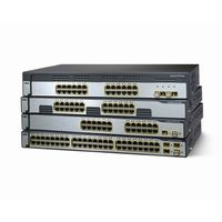 CISCO Catalyst 3750 24 10/100/1000 + 4 SFP + IPS Image; 1RU (WS-C3750G-24TS-E1U)画像