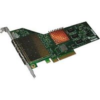 4-port 10GbE Half Size UWire Adapter with PCI-E x8 Gen 2, 32K conn. Direct Attach