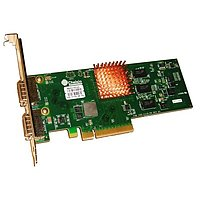 2-port Low Profile 10GbE UWire Adapter with PCI-E x8 Gen 2, 32K conn. CX4 Attach