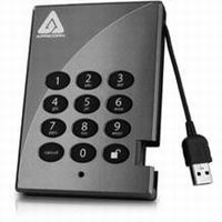 Apricorn Padlock  Secure 128-bit AES Hardware Encrypted Portable USB Drive(A25-PL128-250) 250GB