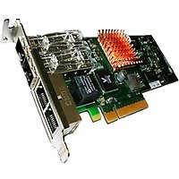 2-port 10GbE direct attach + 2 port 100mb/1Gb RJ-45 Low Profile UWire Adapter with PCI-E x8 Gen 2, 32K conn.