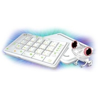 FrogPad USB FrogPad Right handed White-On-White PC or Mac (FPWHUSB20R)画像